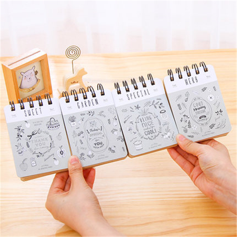 Cute Kawaii Memo Pads Spiral Binder Ring Deli Stationery Store Post it Office Mini Pocket Note Paper Notepad Diary Book Planner