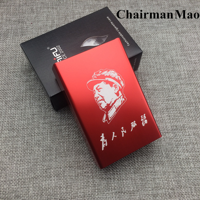 Personalized Disesuaikan Laifu Rokok Kasus Kotak LFXS012 Mode Aluminium Alloy Pria Logam Kotak Asap Rokok Laser Diukir