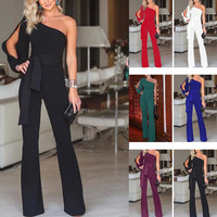 MUXU black jumpsuit sexy bodysuit combishort summer backless europe and the united states jumpsuits rompers plus size rompers