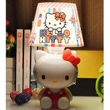 Usb-флеш-накопитель Hello Kitty подключить лампы мультфильм дизайн теплый свет для Спальня прикроватный столик лампа Самые дешевые семейный подарок