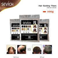 100g SEVICH kératine cheveux Fiber bâtiment amincissement perte de cheveux colorant Styling poudre soins des cheveux Fibre recharge vaporisateur applicateur 10 couleurs