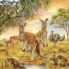 DiaPai Diamond Painting 5D DIY 100% Full Square/Round Drill Animal kangaroo Embroidery Cross Stitch 3D Decor A21987
