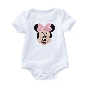 Newborn Girl Clothes Baby Bodysuits Short Sleevele Summer O-neck Jumpsuit Cotton Clothing Infant Bebe