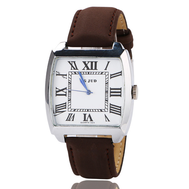 creative watches women peugeot roman numeral dial with leather band