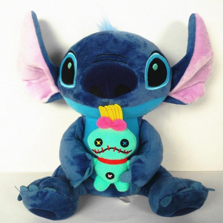 Kawaii 25 Style Stitch Plush Doll Toy Anime Lilo And Stitch Soft Stuffed Doll Cute Stich Scrump Plush Toy For Kid Christmas Gift