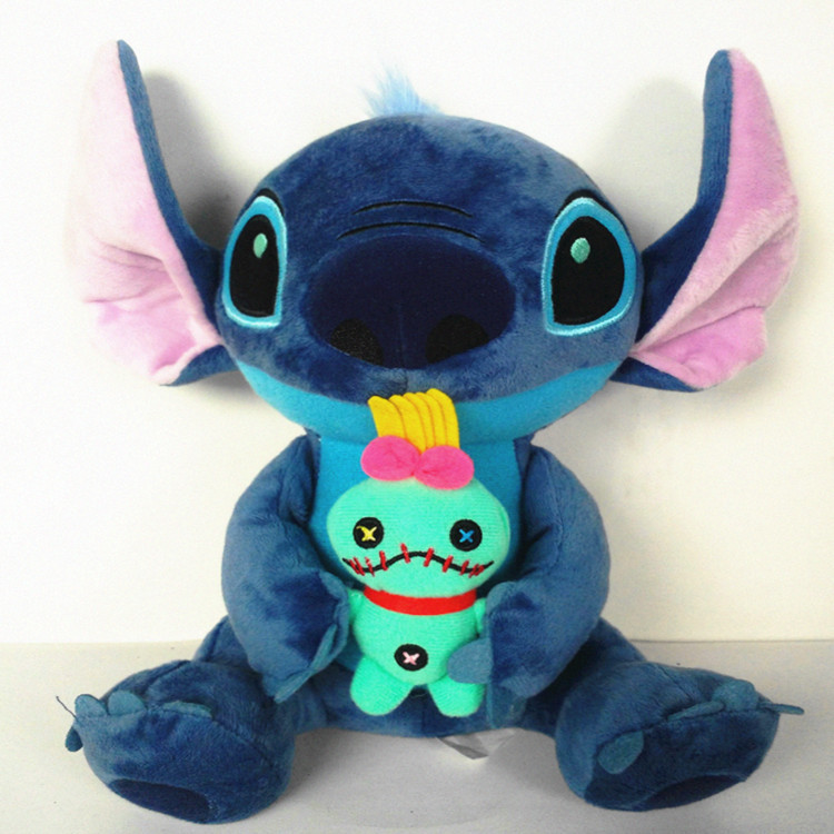 Kawaii 25 Style Stitch Plush Doll Toy Anime Lilo And Stitch Soft Stuffed Doll Cute Stich Scrump Plush Toy For Kid Christmas Gift(China)