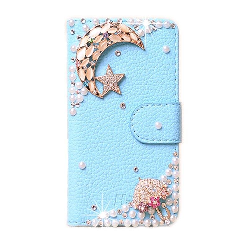 DIY Cute Luxury Crystal Diamond Flip Leather Case Cover For Xiaomi Redmi Note 3 Pro 5