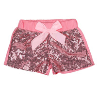 Pudcoco Summer Toddler Baby Girls Bowknot Sparkle Party Shorts Cute Sequin Pants 1-3Y
