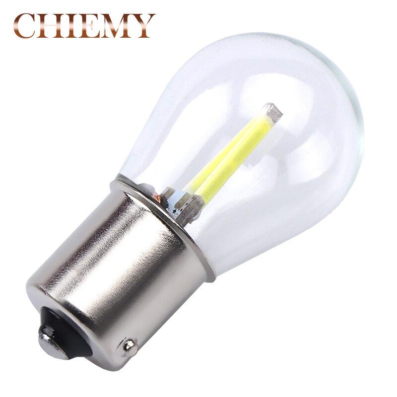 2 шт. P21W BA15S нити чип автомобилей Светодиодный свет 1156 авто автомобиля обратный поворота лампы DRL белый красный желтый стоп-сигналы 12 В 6000 К