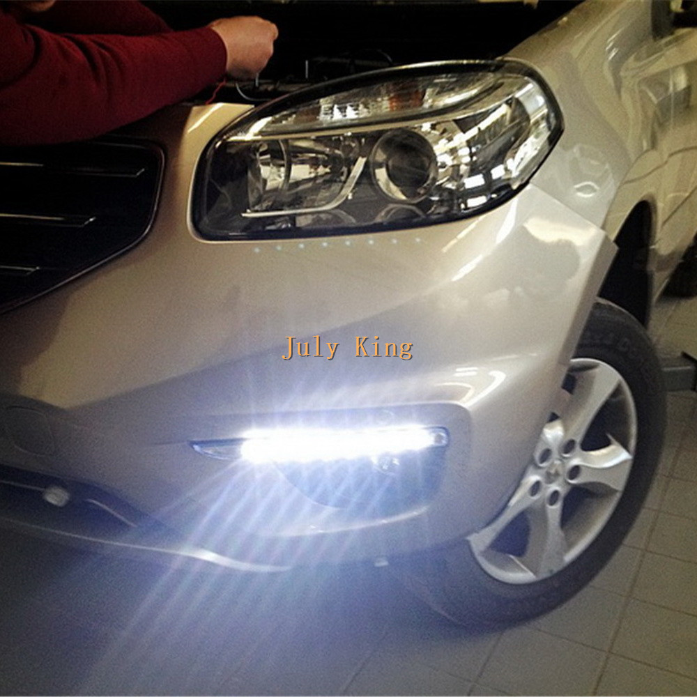цена на Yeats LED Daytime Running Lights DRL, LED Front Bumper Fog Lamp case for Renault Koleos 2012~ON 1:1 replacement, free shipping