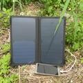 PowerGreen Portátil Bateria de Backup, 14 W 2-portas USB Porta de Alimentação do Carregador Solar, PowerBank Solar, Mini Painel Solar para Celular
