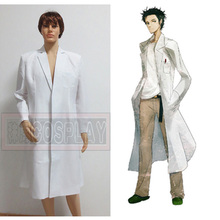MBRAVER New Anime Steins Gate Okabe Rintarou Cosplay Costume Coat Long  Jacket 9cd89c3a9cb4