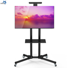 "Universal TV Cart Free Lifting 32"" 65""LED LCD Plasma TV Trolley Stand with Mobile Wheels and Adjustable AV Shelf Camera Holder"