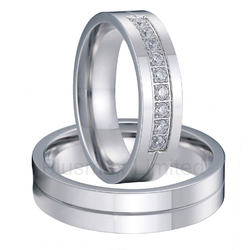 anel men and women titanium fashion jewelry Europe Quality Standard wedding rings for couples цена