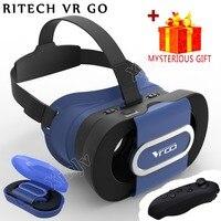 Casque RITECH VR Box 3 D 3D Google Cardboard Virtual Reality Glasses Goggles Headset Helmet For