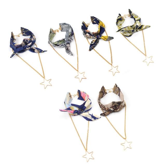 Mode lychee Mode Arc Collier Ras Du Cou Collier Court Foulard En Soie et Cravate Pour Les Femmes Vêtements Accessoires Nouveau