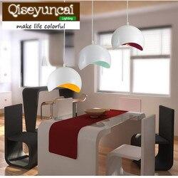 Qiseyuncai proste nowoczesne LED żelazny żyrandol mody trzy kolor bar restauracja restauracja z daniami kreatywne oświetlenie