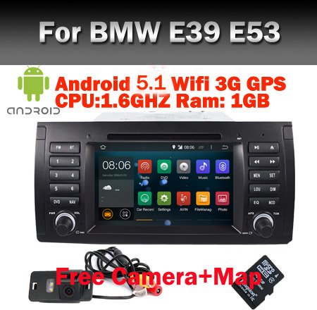 In Stock car radio gps navigation for bmw e53 e39 android 5.1 Wifi 3G GPS Bluetooth Radio Canbus Steering wheel Support DVR