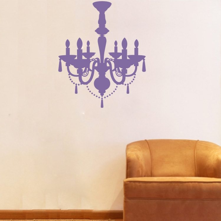 9025 Pendant Lamp Wall Sticker Gorgeous Light Vinyl Stickers Chandelier  Wall Decal Wallpaper Poster DIY Home Decor In Wall Stickers From Home U0026  Garden On ...