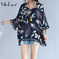 MissLymi XXL-6XL Plus Size Women Oversized T-shirt 2017 Summer Loose Short Sleeves Feather Print Tassel  Hem Tops Paris bead