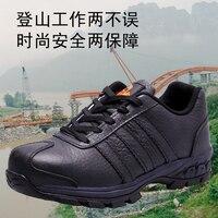 Letnie duże stocznie mężczyźni pracy odporne na przebicie ochronne obuwie ochronne Oddychająca men anti smashing buty na co dzień
