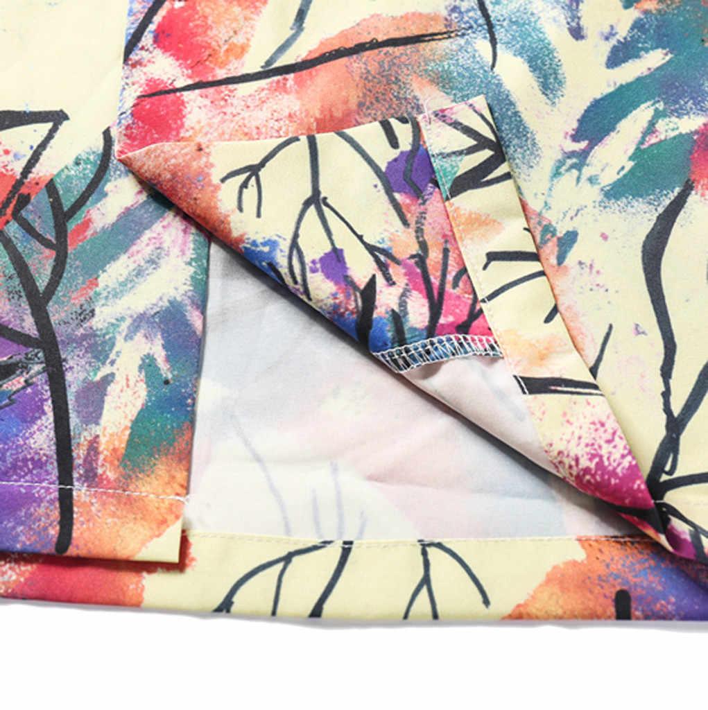 Мужская Летняя Пляжная гавайская рубашка 2019 брендовая Повседневная рубашка с коротким рукавом с цветочным принтом больших размеров Мужская Повседневная праздничная одежда для отдыха