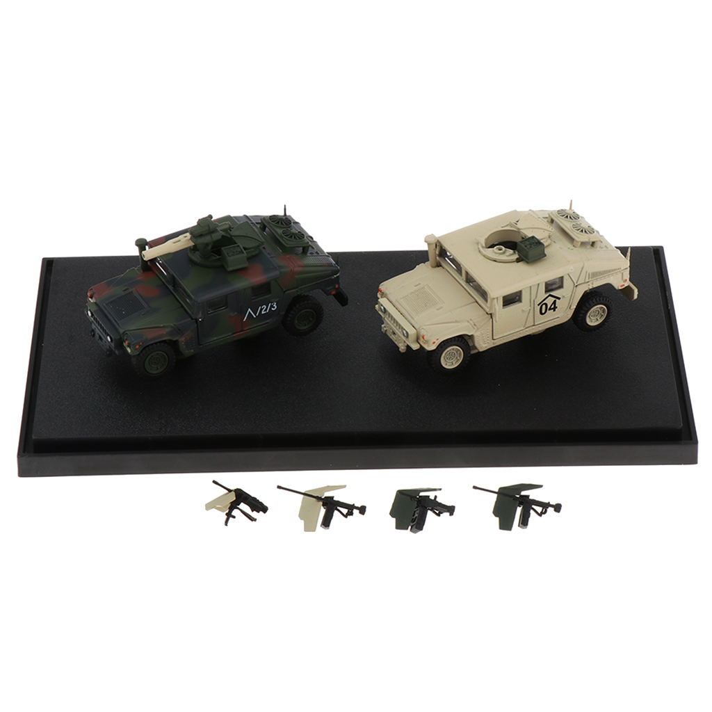 Diecast Military Vehicle Models with Accessories 1 72 Scale Home Office Decoration