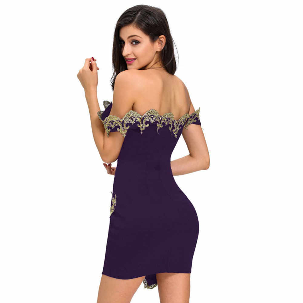02e069f2f0 ... Free Ostrich Pencil Dress Sexy Strapless Lace Applique Bodycon Club  Party Evening Gown Robe Tube Dress ...