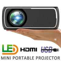 60W 2200 Lumens 800x480P Video Home Cinema LED HD Video Projector Built-in Speaker Support 56-100 Inch Screen Projection
