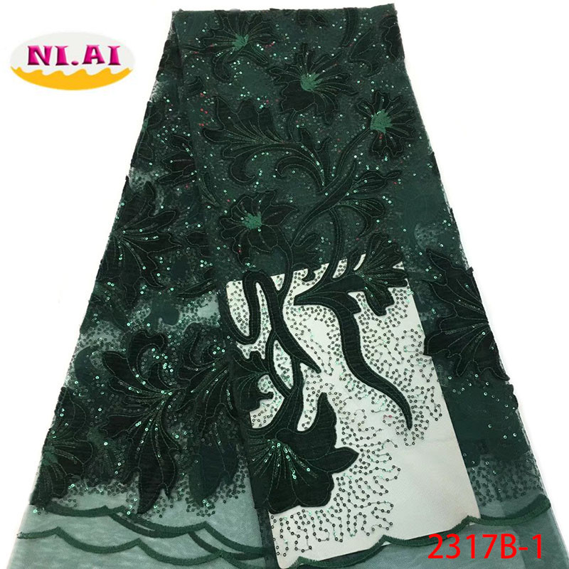 2018 Latest Nigerian Sequins Laces Fabrics High Quality Tulle African Laces Fabric Wedding French Tulle Lace