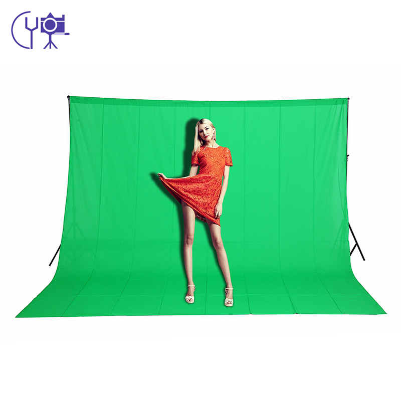 CY 3m X 6m /9.8ftX19.6ft 100% Cotton Chromakey Muslin Background Backdrop For Photo Lighting Studio Green Color Screen Backdrops