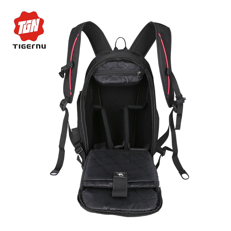 87b7d63489 Tigernu Brand Multifunctional DSLR Camera Bag Backpack Mini ipad Laptop  Backpack Men Camera Video Photo Bags Camera Backpack