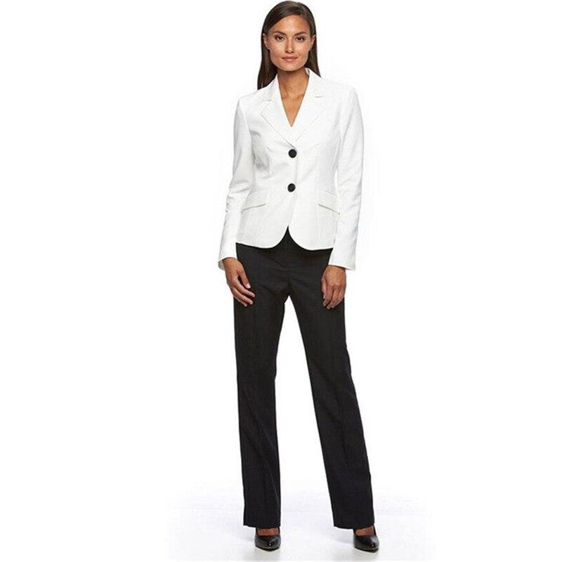 a307a754aa3 Осень Зима Формальные для женщин бизнес костюмы с брюки для девочек +  куртка наборы ухода за кожей дамы офисный униформенный стиль