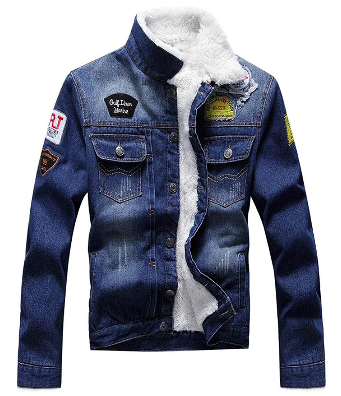 Generic Men's Hip Hop Fleece Lined Slim fit Denim Jacket Trucker(China  (Mainland) - Popular Mens Fleece Lined Denim Jacket-Buy Cheap Mens Fleece Lined
