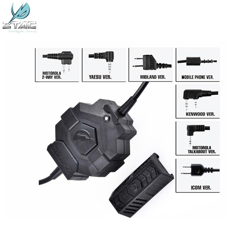 Z-TAC Style Wireless PTT Adapter Fo Army CS Field Radio  Microphone Accessories Z123