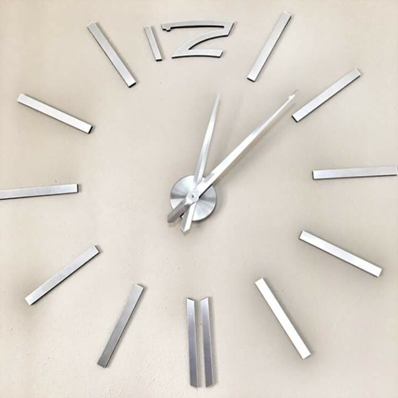 नई मुफ्त शिपिंग फैशन घड़ियाँ बड़े आकार के मिरर दीवार स्टिकर दीवार घड़ी घर की सजावट दीवार घड़ी धातु ईवा ऐक्रेलिक मुहसीन