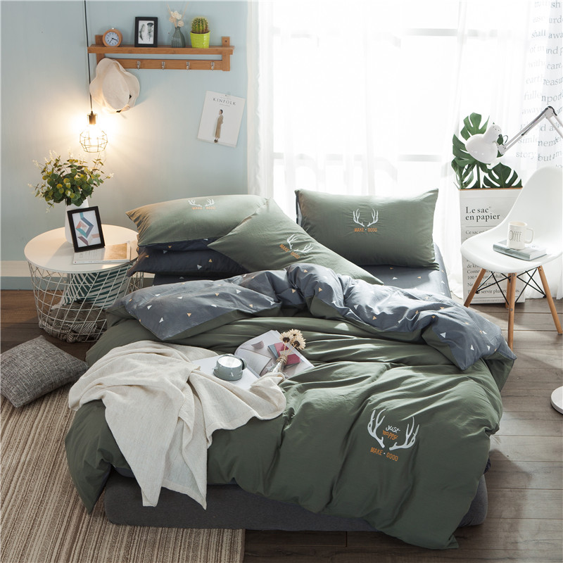 Blue grey 100% cotton soft kids adults Bedding Sets Twin Queen King size Duvet/quilt cover Bed sheet/linen set PillowcasesBlue grey 100% cotton soft kids adults Bedding Sets Twin Queen King size Duvet/quilt cover Bed sheet/linen set Pillowcases