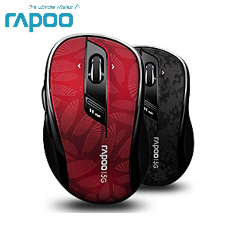 Оригинальный Rapoo Высокое качество Классический 5 г беспроводной оптическая игровая мышь с отрегулировать точек на дюйм 4D прокрутки для наст...