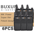 (6 PCS)KSUN X-50TFSI Ham Two Way Radio walkie talkie Dual-Band Transceiver BUXUN X-50(Black)