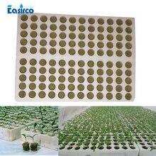 120 шт grow plug с лотком) Grodan стартовые вилки с лотком-rockwool гидропоники для выращивания среды. Размножение клонирования Rockwool штекер