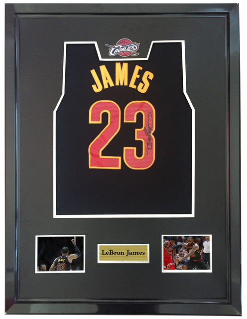 47a2af77421 LeBron James signed autographed basketball shirt jersey come with Sa coa  framed Cavaliers