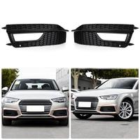 Pair Of Front Lower Bumper Fog Light Cover Grill Grille For Audi A4 S Line S4