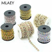 MLAEY 2yards lot Flower Diamond Bling Crystal Ribbon Wrap Trim DIY Home  Wedding Cake Party eafc780b16d5
