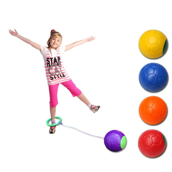 Jumping Ball Toy Single Foot Shot Ball Bouncing Ball Jumping Reaction Toys Kids Outdoor Fun Sports Toy Child-parent Games kids flashing jump ring glowing jumping ball indoor outdoor adults foot spinner fun toy