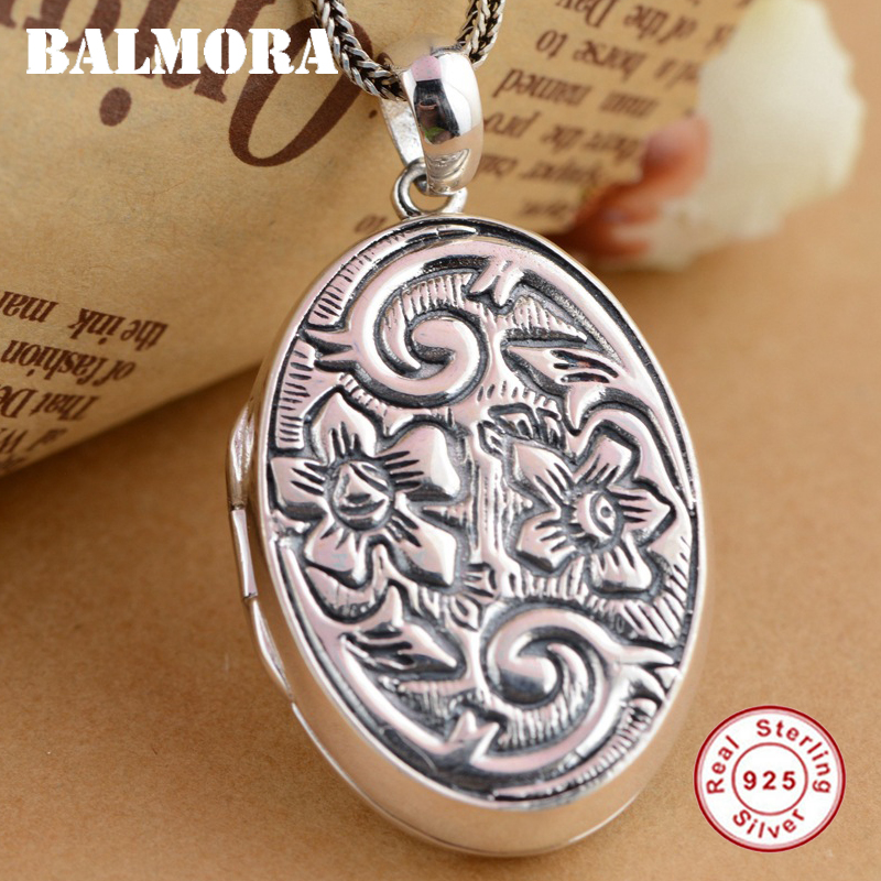 BALMORA 925 Sterling Silver Vintage Pendants for Women Men Accessories Thai Silver Pendant Jewelry Without a Chain SY13153 men without women
