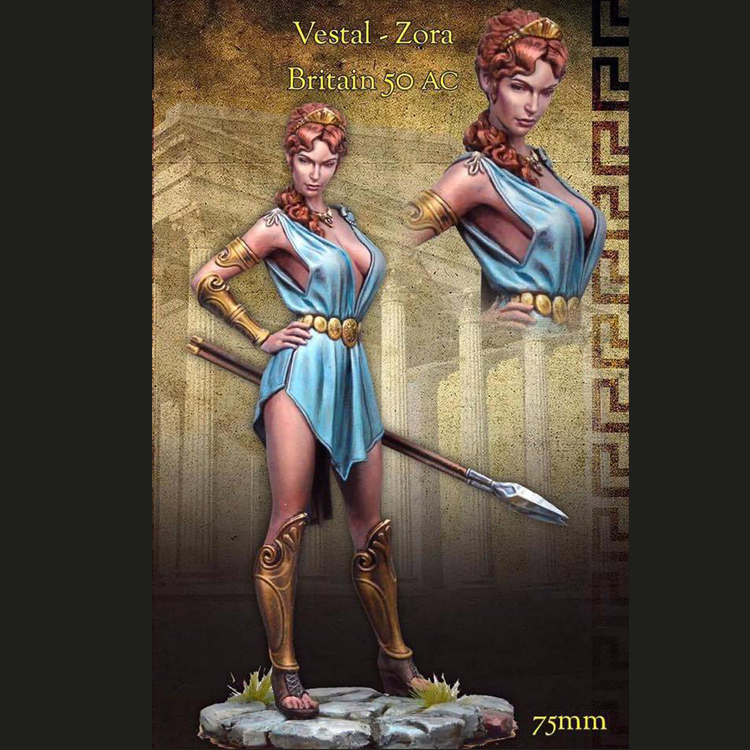 DIY 75mm Historical Movie Character Sister Zola Roman Resin Character Model R54 image