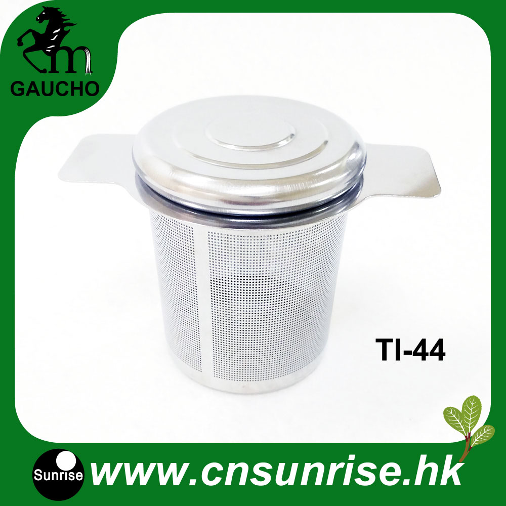 300pcs Lot Reusable Tea Strainer With Lids And Handle Stainless Steel Filter Infuser Without Tea Dregs