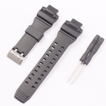 Watch Accessories for Casio G-SHOCK Series GPW-1000 GPW-1000GB-1A Silicone Strap Men Convex Interface Rubber Bracelet 28mm цена 2017