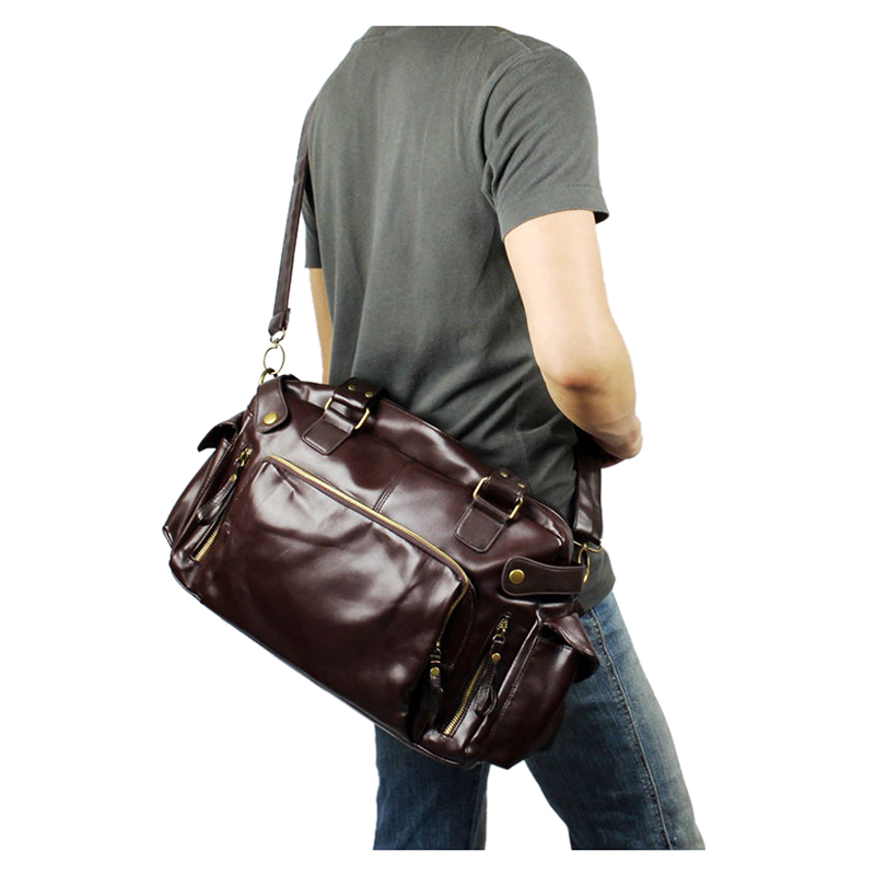 Image 5 - ABDB male bag England Retro Handbag shoulder bag PU leather men messenger bags brand high quality men's travel crossbody bags-in Top-Handle Bags from Luggage & Bags