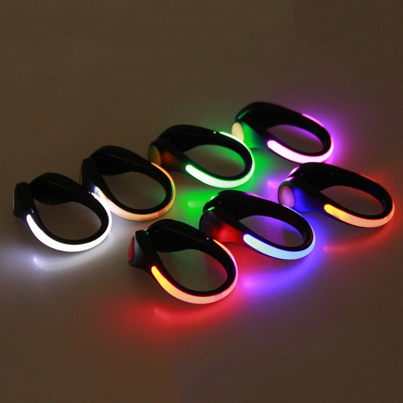 1 Pcs LED Luminous Shoe Clip Outdoor Bicycle LED Luminous Night Running Shoe Safety Clips Cycling Sports Warning Light